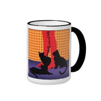 Señora sana del gato de Purrfectly Taza De Café
