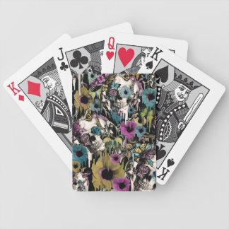 Señora Sandman, modelo floral del cráneo Baraja Cartas De Poker