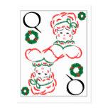 Señora Santa - reina de guirnaldas Tarjeta Postal