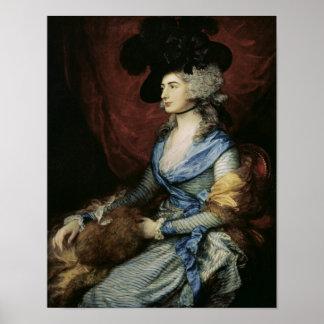Señora Sarah Siddons, la actriz, 1785 Póster