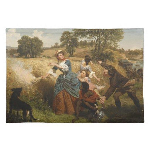 Señora Schuyler Burning Her Fields - Leutze (1852) Manteles