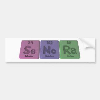 Senora-Se-No-Ra-Selenium-Nobelium-Radium.png Bumper Sticker