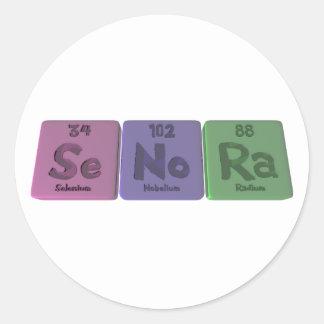 Senora-Se-No-Ra-Selenium-Nobelium-Radium.png Classic Round Sticker