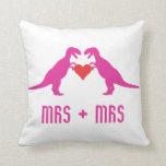 Señora+Señora - el amor es dinosaurios del amor Cojin