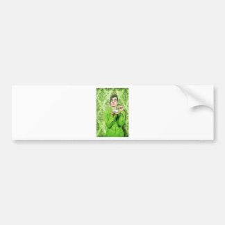 Señora severa etiqueta de parachoque