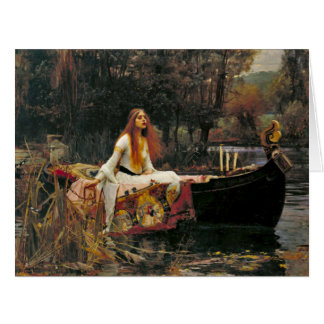 Señora Shalott 1888 Tarjeta De Felicitación Grande