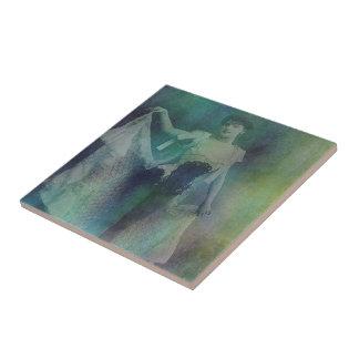 Señora sincopada azulejo cuadrado pequeño