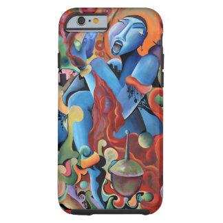 """""""Señora Sings caso del iphone 6 de los azules"""" Funda De iPhone 6 Tough"""