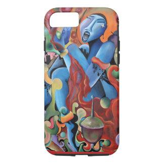 """""""Señora Sings caso del iphone 6 de los azules"""" Funda iPhone 7"""