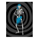 Señora Skeleton Singer Postales