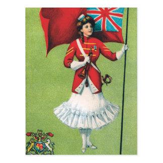 Señora Soldier Gran Bretaña Tarjeta Postal