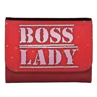 Señora Sparkle Medium Leather Wallet de Boss