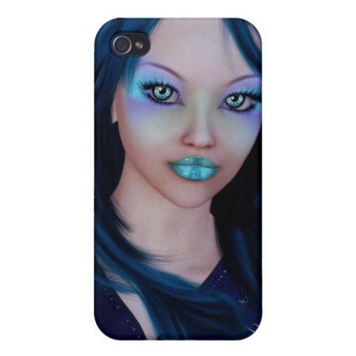 Señora Speck Case de los azules claros iPhone 4 Funda