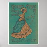 Señora Spring del Victorian y impresión 1907 del a Póster