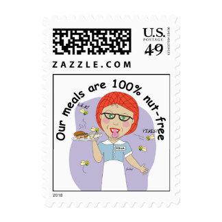 Señora Stamp del almuerzo Envio