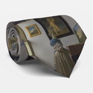 Señora Standing en un Virginal de Juan Vermeer Corbata Personalizada