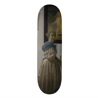 Señora Standing en un Virginal de Juan Vermeer Tablas De Skate