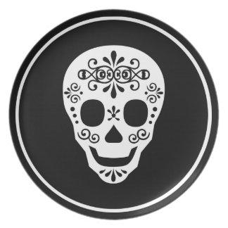 Señora Sugar Skull por las pimientas de Leslie Platos De Comidas