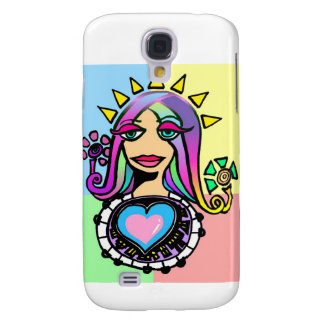 Señora Sunshine Heart: Versión 3 Funda Para Galaxy S4