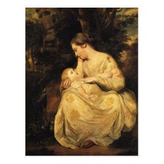 Señora Susana Hoare y niño de Joshua Reynolds Tarjetas Postales