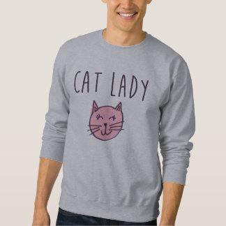 Señora Sweatshirt del gato Sudadera Con Capucha