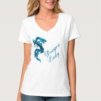 Señora T-Shirt del dragón Playera