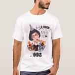 Señora T-Shirt del gato del Año Nuevo Playera