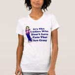 Señora T-Shirt del gato (no loco) Camiseta