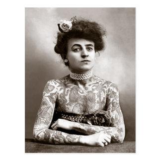 Señora tatuada, 1907 tarjeta postal