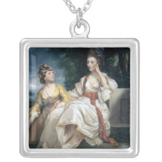 Señora Thrale y su hija Hester 1777-78 Colgante Cuadrado