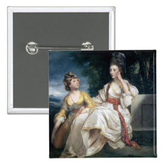 Señora Thrale y su hija Hester 1777-78 Pin Cuadrado