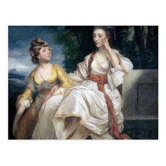 Señora Thrale y su hija Hester 1777-78 Postal
