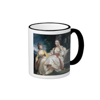 Señora Thrale y su hija Hester 1777-78 Tazas