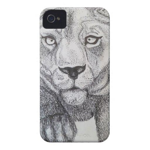 Señora Tiger iPhone 4 Carcasas