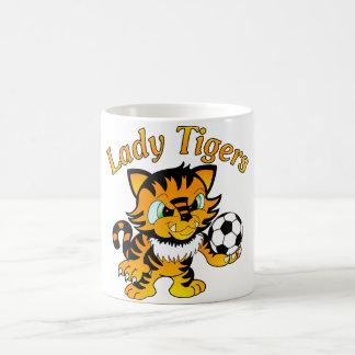 Señora Tigers Soccer Taza Básica Blanca