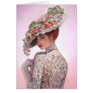 """Señora tímida """"Betty Lu """" del Victorian Tarjeta De Felicitación"""