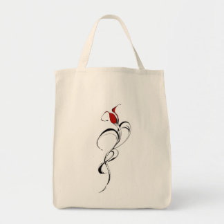 Señora Tribal Tattoo del rosa rojo para el día de  Bolsa De Mano