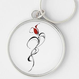 Señora Tribal Tattoo del rosa rojo para el día de  Llaveros Personalizados