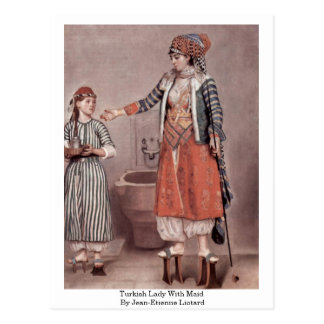 Señora turca With Maid By Jean-Etienne Liotard Postales
