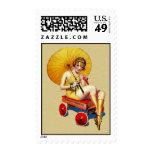 Señora Umbrella Wagon Bathing de la aleta de los Sellos