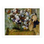 Señora Valpinçon con la postal de los crisantemos