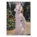 Señora Valtesse de la Bigne, 1889 Tarjeta De Felicitación