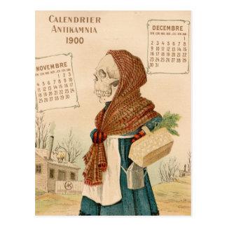 Señora vegetal esquelética postales