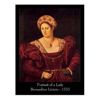 Señora veneciana Postcard Postales