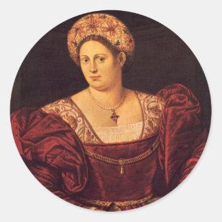 Señora veneciana Stickers