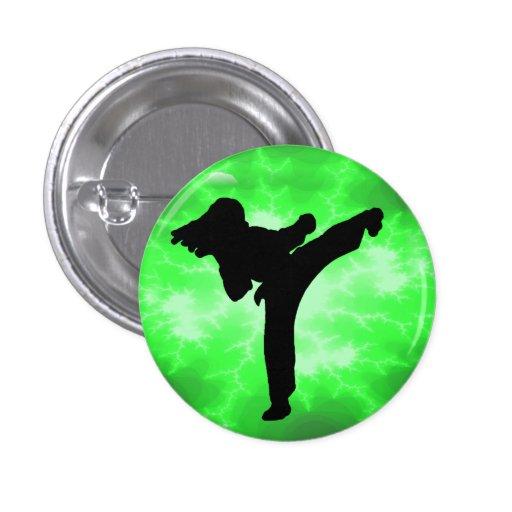 Señora verde Button del relámpago Pins