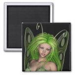 Señora verde Fairy 1 - arte de la fantasía 3D - Imanes Para Frigoríficos