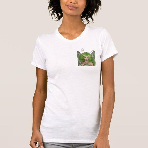Señora verde Fairy 1 - arte de la fantasía 3D - Camiseta
