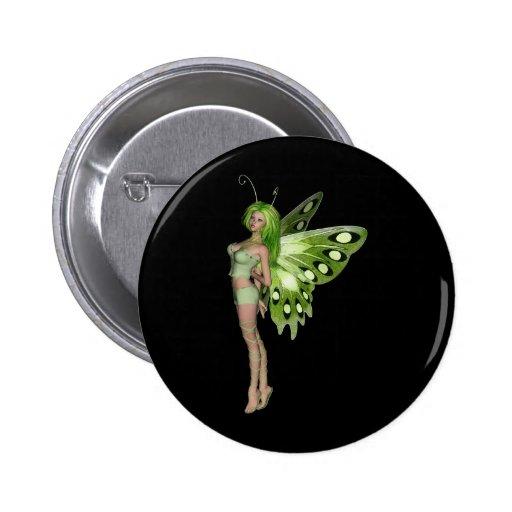 Señora verde Fairy 2 - arte de la fantasía 3D - Pin