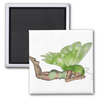 Señora verde Fairy 3 - arte de la fantasía 3D - Imán Para Frigorífico